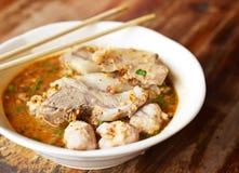 Thai nudel för läcker kokkonst Arkivbild