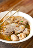 Thai nudel för läcker kokkonst Arkivbilder