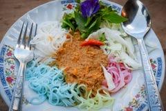 thai nudelrice Royaltyfri Fotografi
