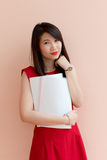 Thai office gril stock photography