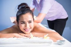 Thai Oil Massage To Attractive Woman Stock Image