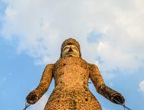 Thai Old Buddha Statue. The view of Thai Old Buddha Statue Stock Photos