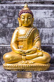 Thai old golden buddha statue Royalty Free Stock Photos