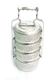 Thai old silver carrier tiffin, usuall Stock Photos