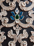 Thai old stucco pattern style Stock Image