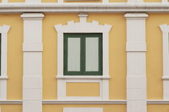 Thai old style classic window in Bangkok Royalty Free Stock Photo