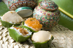 Thai old style dessert. Close up Thai old style dessert Stock Photography