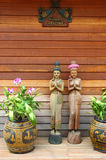 Thai old style welcome interior. Thai wooden old style welcome decoration Stock Photo