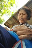 Thai old woman worker Royalty Free Stock Images