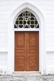 Thai old wooden door Royalty Free Stock Photo