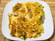 Thai omelet with onion Royalty Free Stock Photo