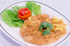 Thai omelet Royalty Free Stock Images