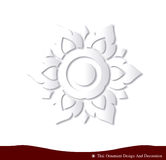 Thai ornament design card paper 3D natural Royalty Free Stock Photos