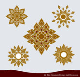 Thai Ornament Design Set Stock Photos