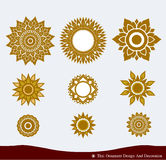 Thai Ornament Design Stock Images