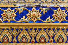 Thai ornament texture. Beautiful thai ornament texture. Grand Palace, Bangkok, Thailand Royalty Free Stock Images