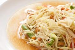 thai övre för tät papayasaldsomtum Arkivfoton