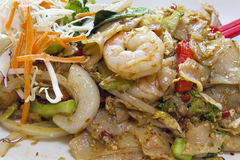 Thai Pad Kee Mao Rice Noodle Dish stock photography