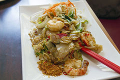 Thai Pad See Ewe Stir Fried Noodles Royalty Free Stock Images