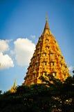 Thai pagoda. Big golden pagoda in thailand Royalty Free Stock Images