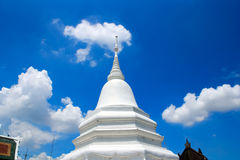 Thai Pagoda. In the blue sky Royalty Free Stock Photo