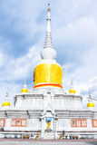 Thai pagoda called  Nadun pagoda  on cloudy day in Thailand Stock Photo