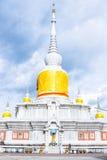 Thai pagoda called  Nadun pagoda  on cloudy day in Thailand. Thai pagoda called  Nadun pagoda  on cloudy day in Northeast, Thailand Stock Photo