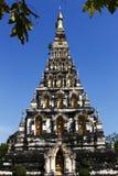 Thai Pagoda at Chiangmai Thailand. Thai Pagoda on bule sky at Chiangmai Thailand Royalty Free Stock Photography