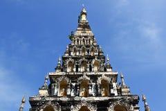 Thai Pagoda at Chiangmai Thailand. Thai Pagoda on bule sky at Chiangmai Thailand Royalty Free Stock Images