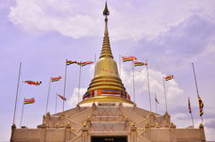 Thai pagoda in daytime Royalty Free Stock Photography