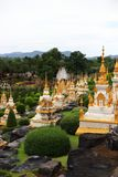Thai pagoda field Royalty Free Stock Photo