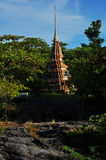 Thai pagoda at Ko sichang, chonburi, Thailand Royalty Free Stock Photo