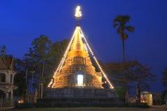 Thai Pagoda at Mon Khao Kaeo Temple. Pagoda is older than 500 years in Lampang province, north of Thailand Stock Image