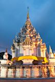 Thai pagoda at night Stock Photos