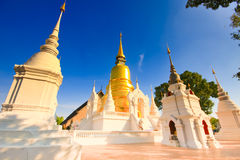 Thai pagoda in temples. Stock Photo