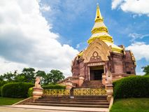 Thai pagoda of wat pa sarawan korat Stock Photo