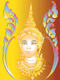 Thai paint mural temple Stock Images