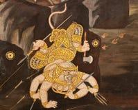 Thai painting Stock Photo