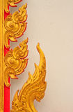 Thai painting. In the Temple stock photos