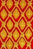 Thai painting. The golden Thai painting on the wall in  Thai temple Royalty Free Stock Photos