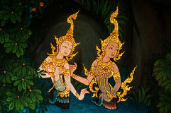 Thai painting Royalty Free Stock Photos