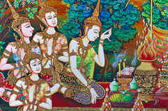 Thai painting art Stock Images