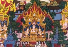 Thai Painting :Birth of Buddha Stock Photography