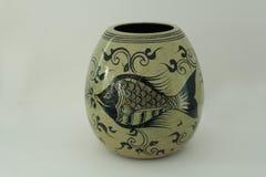 Thai painting ceramic vase Royalty Free Stock Image