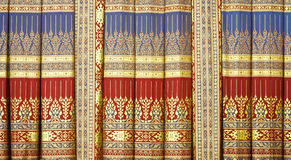 Thai Painting Curtain Stock Photography