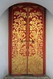 Thai painting door art in temple Stock Images