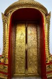 Thai painting door of Wat Thong Nopakhun, Bangkok, Thailand Royalty Free Stock Image