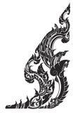 Thai painting kanok sticker Stock Images