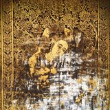 Thai painting. On a wall in temple Stock Photo