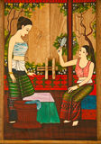 Thai painting of women. Stock Photography